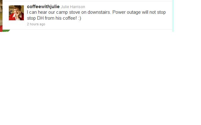 Power outage tweet