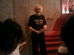 Gerald Morris welcomes bloggers to the Lord of the Rings at the NAC -- a first for Ottawa.