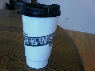 No-spill cup from Newsies, The Musical