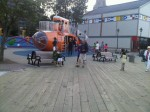Submarine playground on Halifax Boardwalk