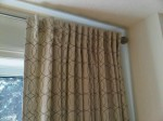 Curtain Rod from Lowes, Curtains from Tonic Living
