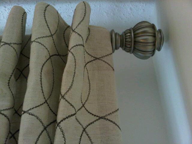 Curtain rod end detail