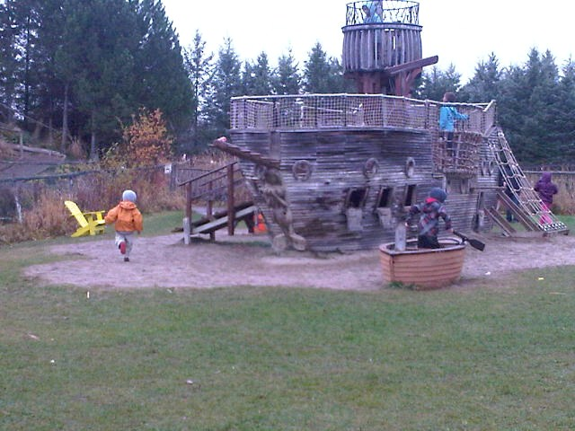 @coffeewithjulie Pirate Ship at Saunders Farm