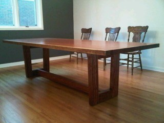 full view of dining table