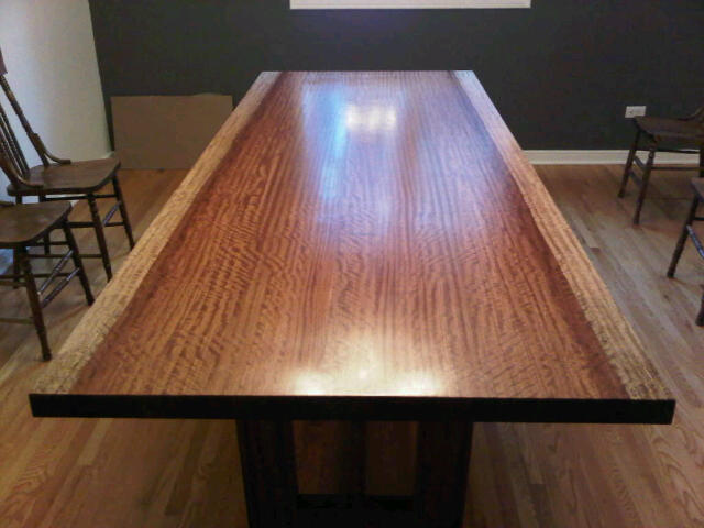 Top view of new dining table