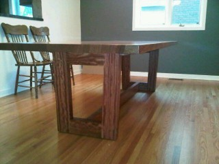 Dining table showing the base