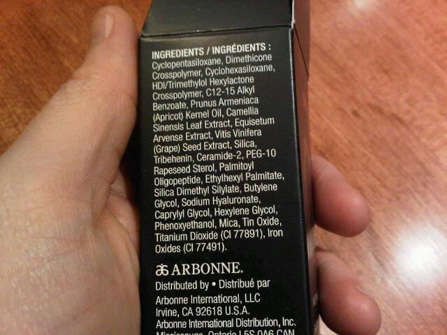 ingredients in arbonne makeup primer