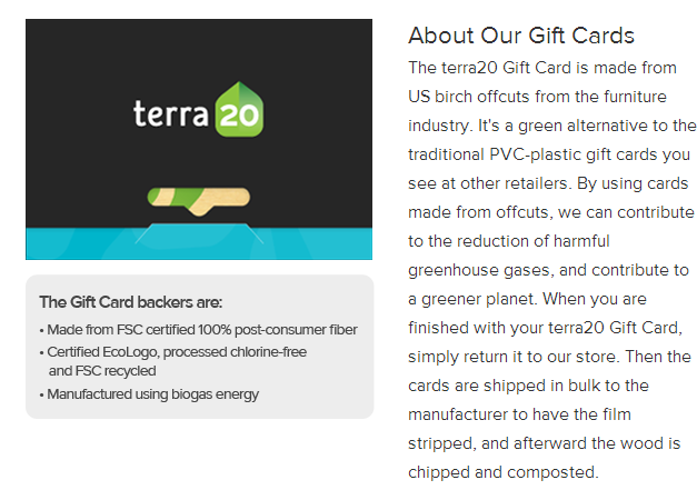 terra20 gift cards