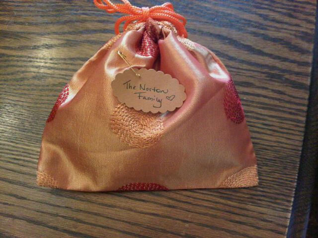 Silk baggie for Christmas tree ornament