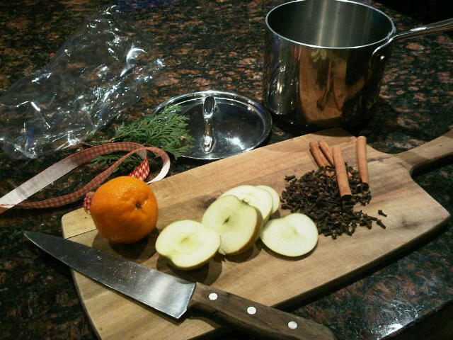 Ingredients for natural Christmas aroma