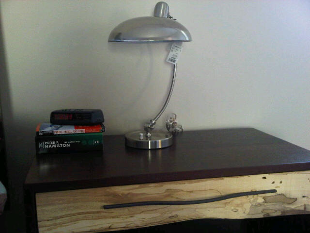 Industrial style bedside table lamp
