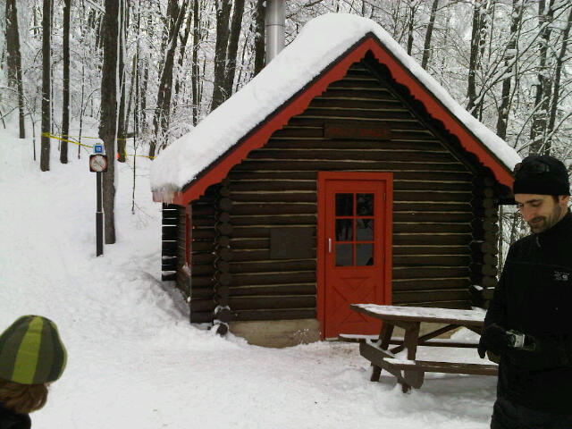 the shilly shally cabin in the gatineau hills
