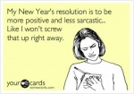 new years resolution postcard