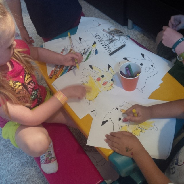 colouring table