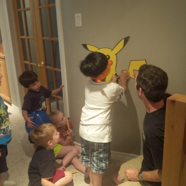 pin the tail on the pikachu