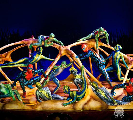 High bars act, Cirque du Soleil, Totem