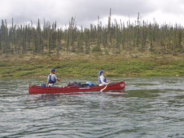 Canoeing on Great Bear River