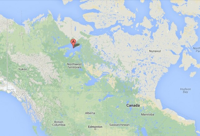Location of Great Bear Lake in NWT