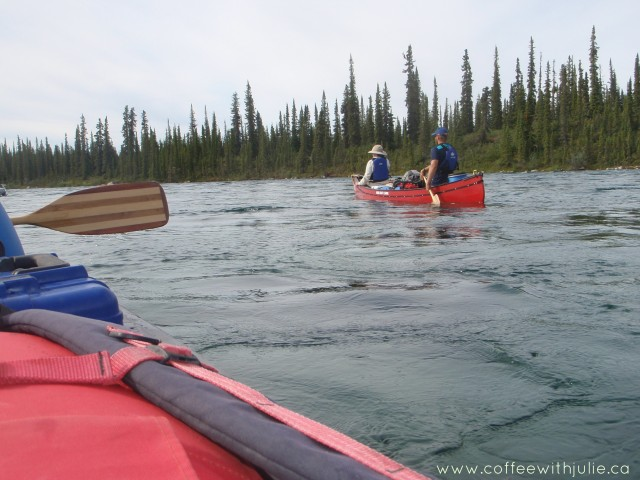 canoeing down Great Bear River