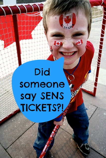 giveaway for Sens Tickets