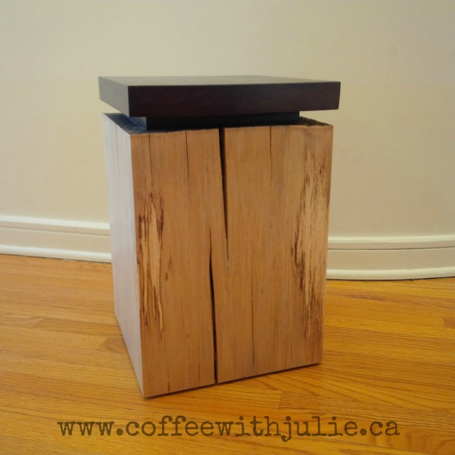 tree stump - side table - on coffee with julie