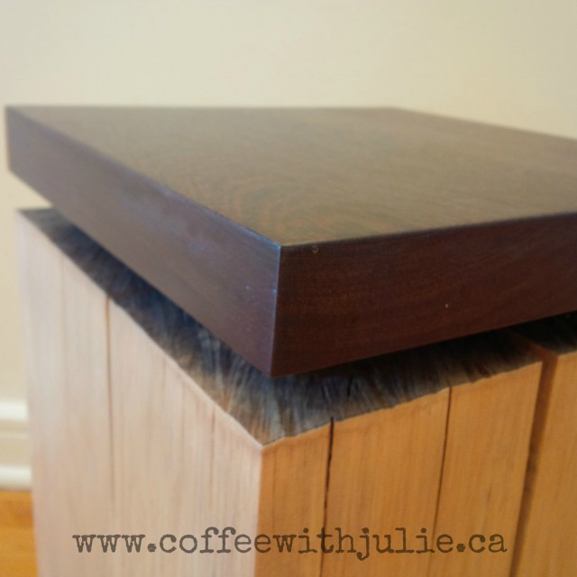 Side table with wenge and popular wood