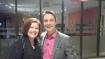Derick Fage, host of Daytime Ottawa, and I in the green room.