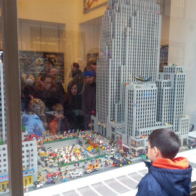 Who cares about the Empire State Building when there's a LEGO store in NYC!