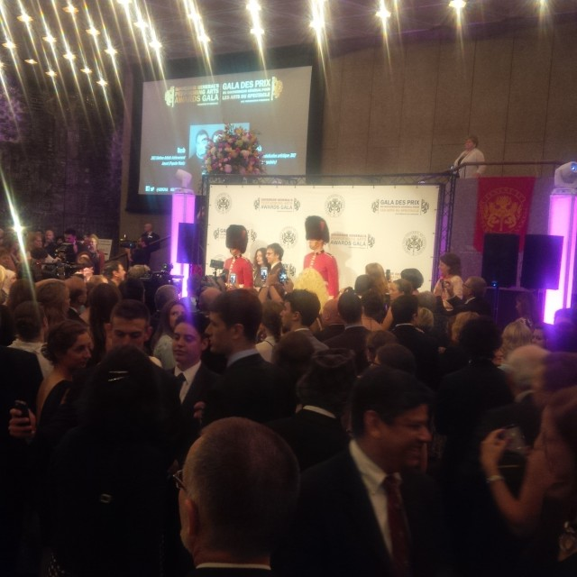 Atom Egoyan, a 2015 laureate, arrives on the red carpet.