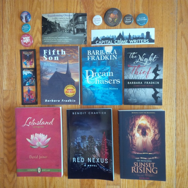 A photo of books bought at Prose in the Park Ottawa